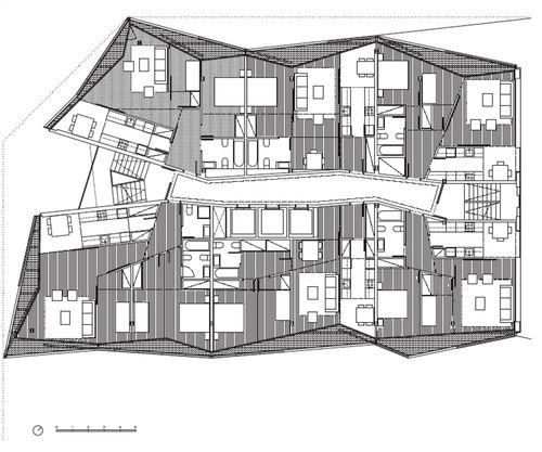 Barcelona, Spain Edificio de 68 viviendas, locales comerciales y aparcamientos OAB – FERRATER ASOCIADOS