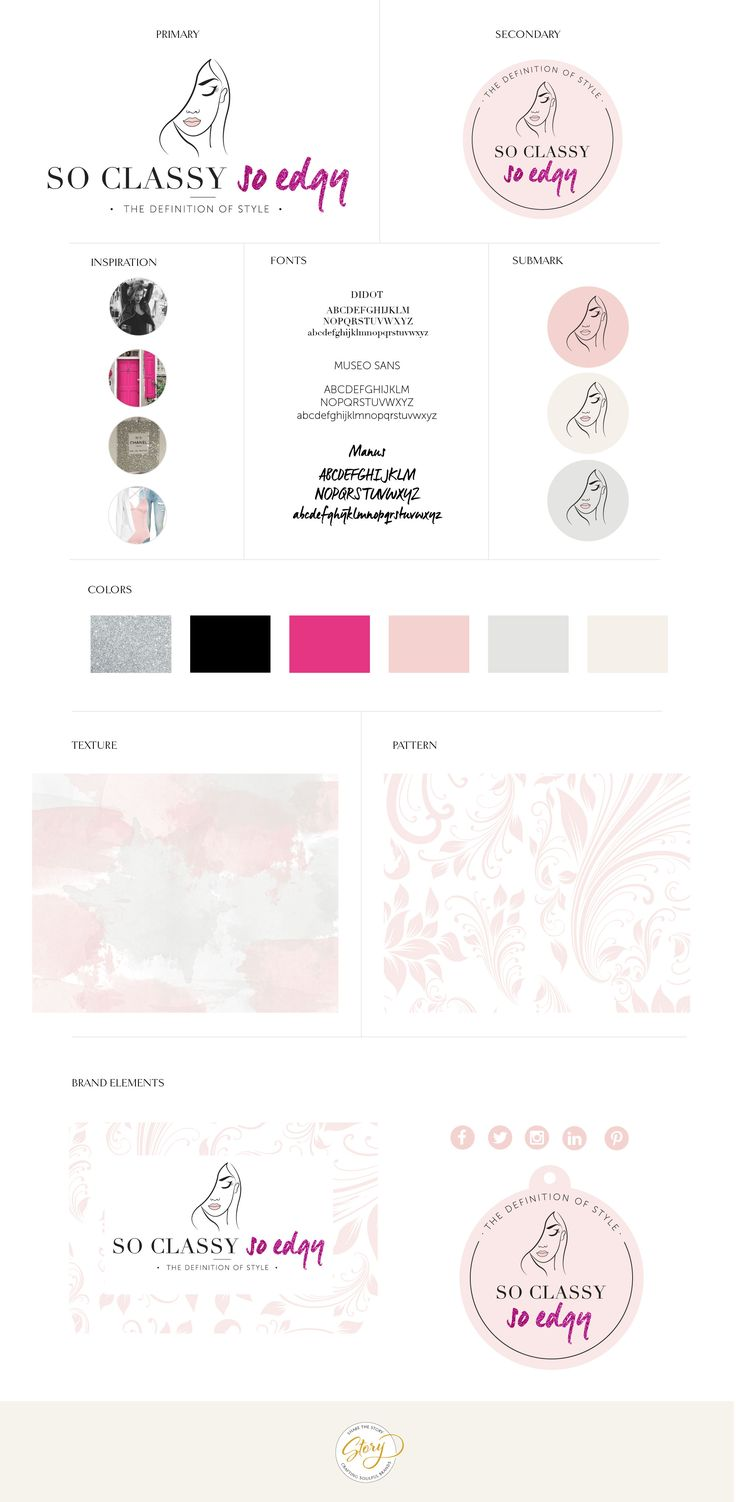 Style guide design - brand design - share the story