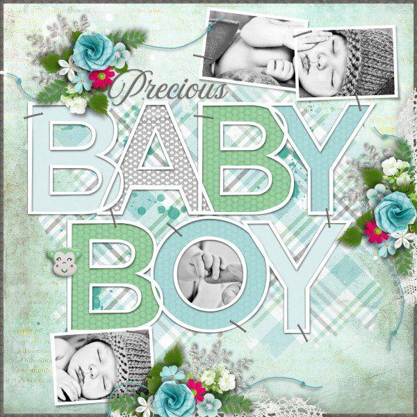 Kit and Template Baby, Baby by Heartstrings Scrap Art. Photos from Desktop Nexus