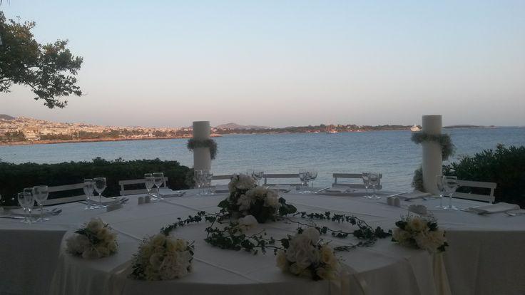 athens riviera wedding decor