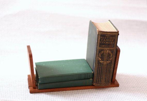 Art Deco Wooden Book Stand  Amsterdam School Design  Dutch