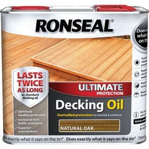 Ronseal Ultimate Decking Oil - Natural Oak