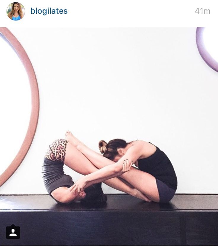 Cool infinity yoga pose for two people. Great for best friends! @katejermain for our next yoga hike