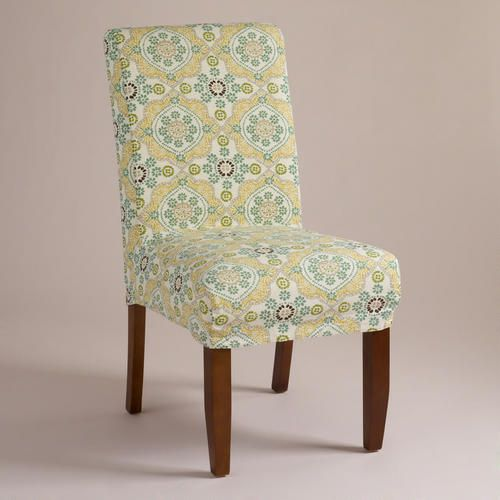 Mosaic Short Anna Chair Slipcover. Will hide spills better.