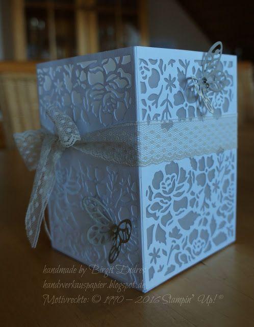 HandWerk aus Papier: Florales Windlicht - eckig