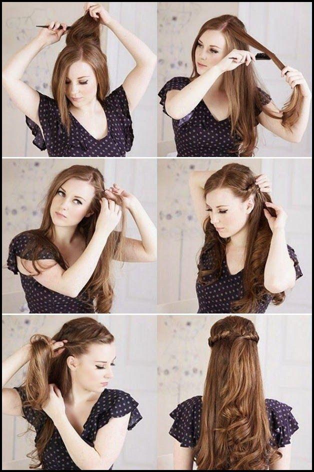 Twisted+half+up+half+down 4 Facile Demi coiffures que vous pouvez faire en moins de 5 minutes