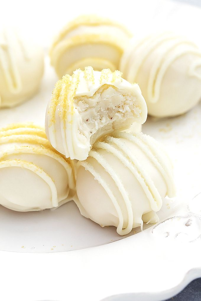 Rich and creamy eggnog truffles – easy to make and perfect for holiday parties!