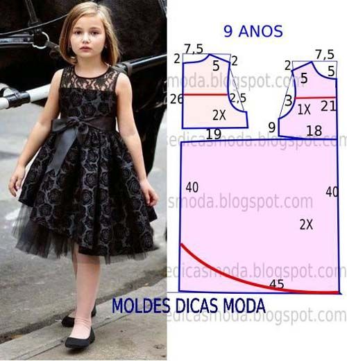 Patrones gratis de vetidos elegantes para niñas06