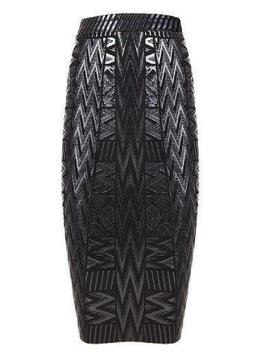 Black printed pattern bandage skirt – Everyone's corner