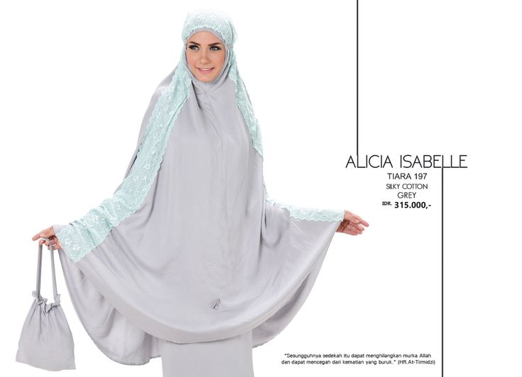 Alicia Isabelle - Tiara 197 Silky Cotton  Grey AVAILABLE only IDR 315.000,-