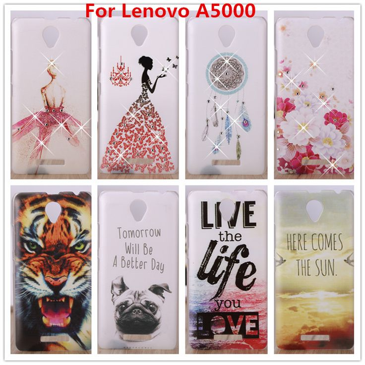 For Lenovo A5000 Case /Luxury Crystal Diamond 3D Bling Hard Plastic Cover Case For Lenovo A5000 A 5000 Cell Phone  Cases