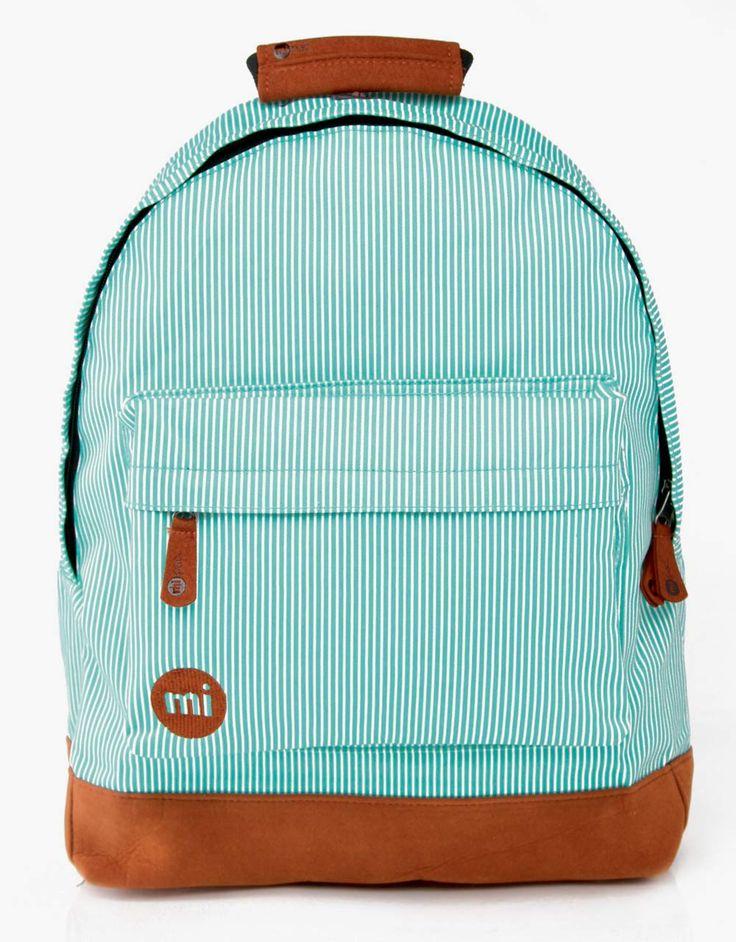 Mi Pac Premium Backpack Green Candy Stripe