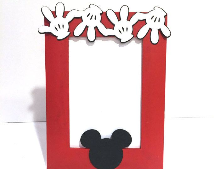 Mickey Mouse Picture Frame / Mickey Mouse Birthday Party / Mickey Mouse Party Decor by GreatCrafternoon