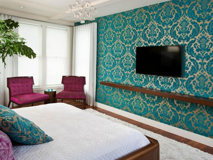 Best Wallpaper Wallpainting Chennai Images On Pinterest - Wallpaper designs for master bedroom