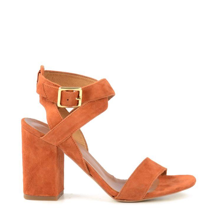 Suede sandalen met hak