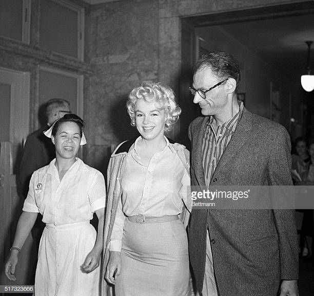 Marilyn Monroe leaving Lenox Hill Hospital after gynecological… – Debra Stergakos