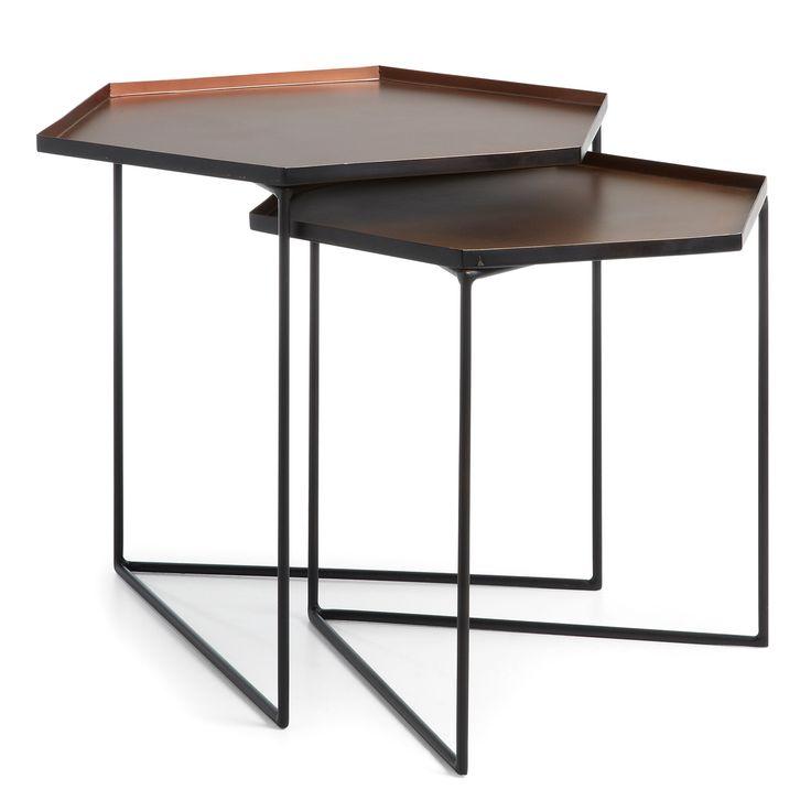 Set De 2 Tables Gigogne Vinker C. TripodLiving RoomCopperNesting ...