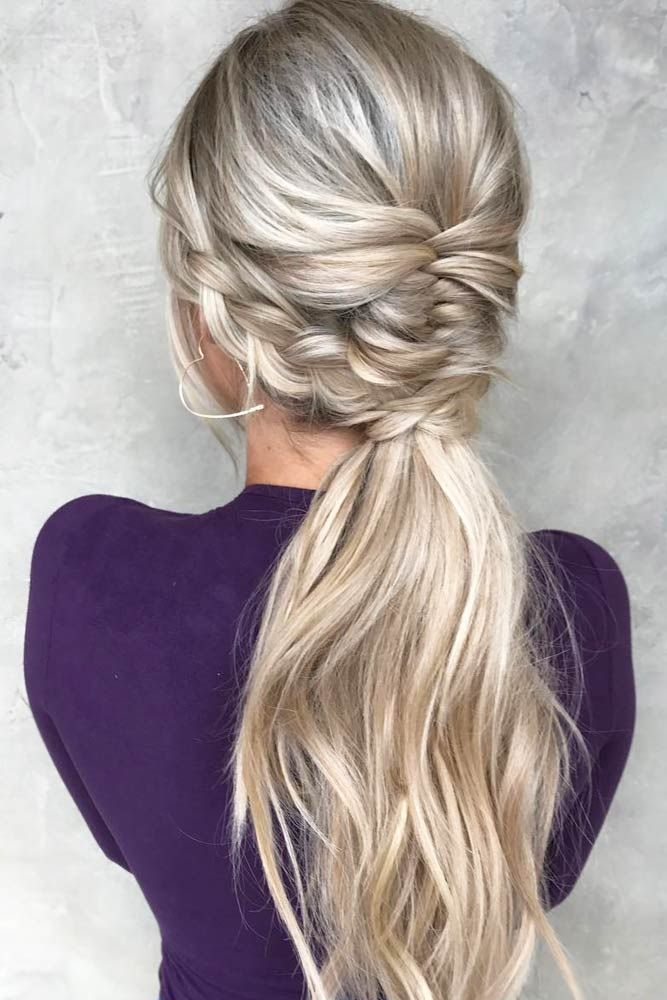 39 Totally Trendy Prom Hairstyles For 2020 To Look Gorgeous Braids For Long Hair Long Hair Wedding Styles Bridesmaid Ponytail