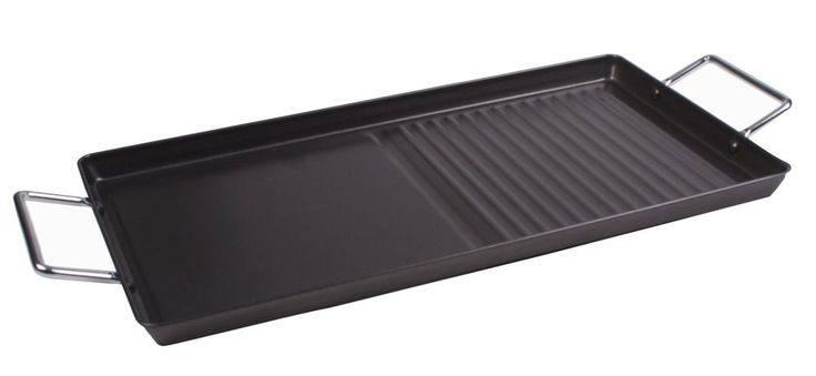 """Stove Top Griddle Plate – 18"""" x 10"""" Double Burner Griddle Tray"""