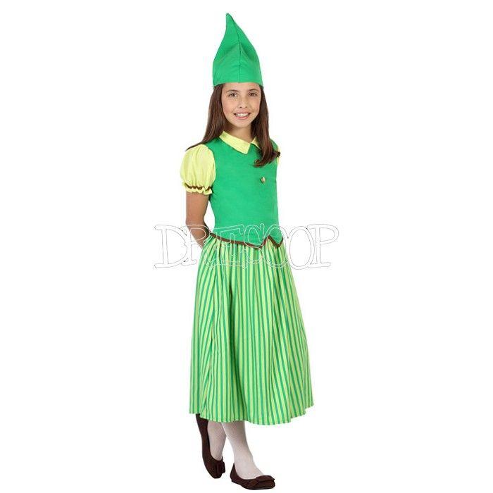 Disfraz Duende Verde para niña