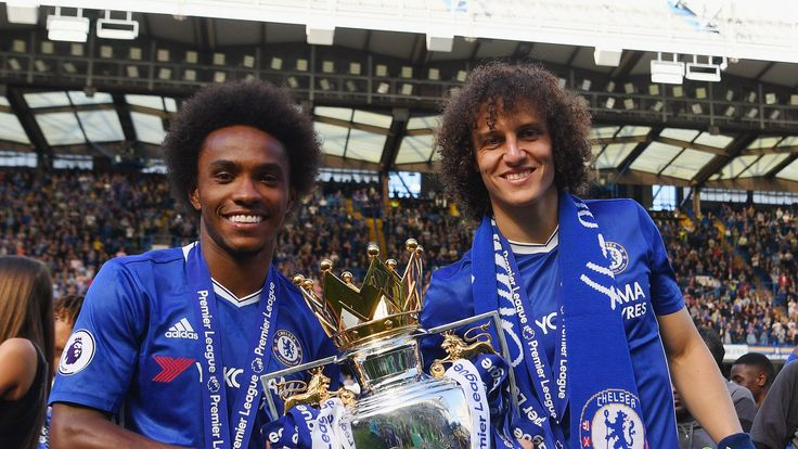 Willian and David Luiz enjoying Premier League title dream