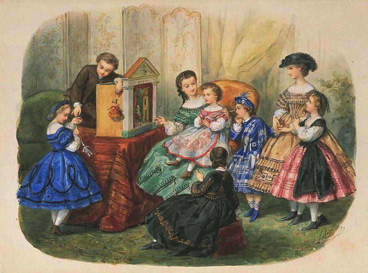 Мобильный LiveInternet Детская иллюстрированная мода 1860-1880 год | Акварель. | PKFNF - Коллекция PKFNF |