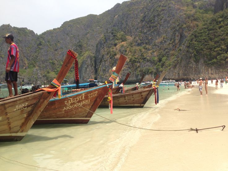 Koh Phi Phi boats.  #KohPhiPhi #Thailand #Backpacking #Travel