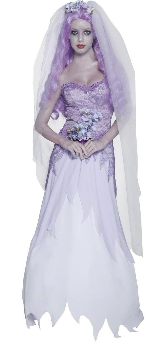 """Costume da sposa gotica per adulto -Halloween:Halloween trasforma tutto e, cosí, anche una sposa puó diventare """"zombie"""". per questo tema cosí alla moda, il nostro abito da sposa cadavere sarà assolutamente perfetto!"""