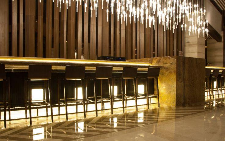 Accent bar lighting. #led #lighting #lightingdesign #chicago #design #accent #bar #uplighting #commercial