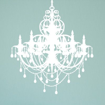 "Alphabet Garden Designs Chandelier Wall Decal Size: 38"" H, Color: Terracotta / Spice"