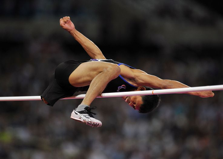 Philippine's Andy Avellana competes in the Men's High Jump F42 final athletics event during the London 2012 Paralympic Games at the Olympic Stadium in east London