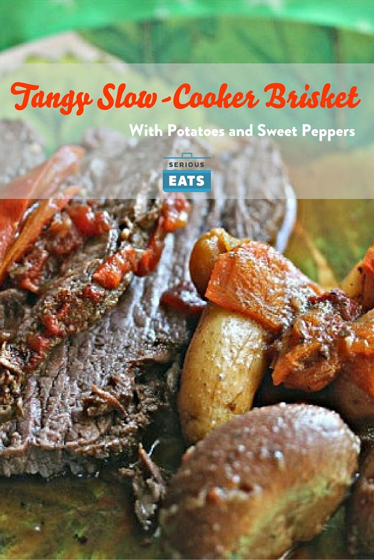 Savory beef brisket gets slow-cooked with potatoes and peppers in a deeply…