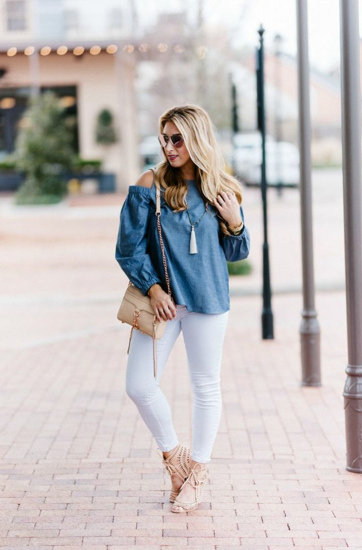 Chambray Cold Shoulder for Spring | January Hart