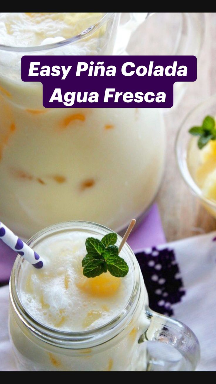 Pineapple Drinks, Pineapple Recipes, Pineapple Coconut, Canned Pineapple, Mexican Drinks, Mexican Food Recipes, Ethnic Recipes, Agua Fresca Recipe, Pina Colada Juice Recipe