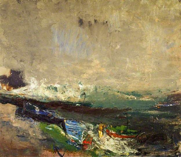 Boats on the Shore.Joan Eardley 1963.National Galleris of Scotland.