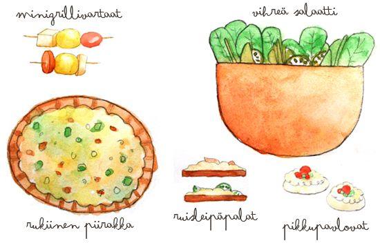 Summer party menu #illustration #menu #foodillustration