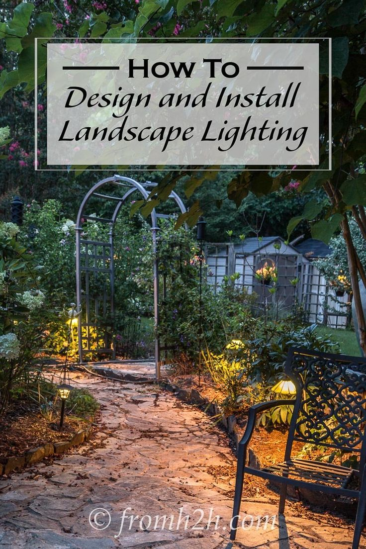 How To Design And Install Landscape Lighting | Want to light up your yard at night but not sure what to do?  Click here to find out how to design and install landscape lighting for your garden.