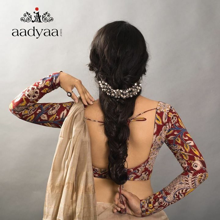 Full sleeve Kalamkari blouse