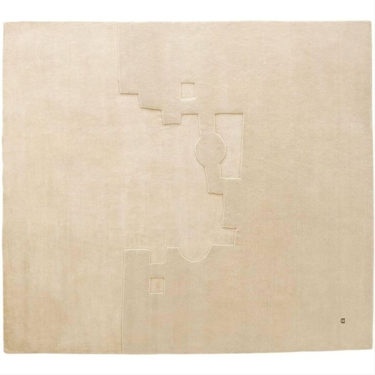 Gravitacion 1994 Hand-Knotted Wool and Silk Area Rug by Eduardo Chillida