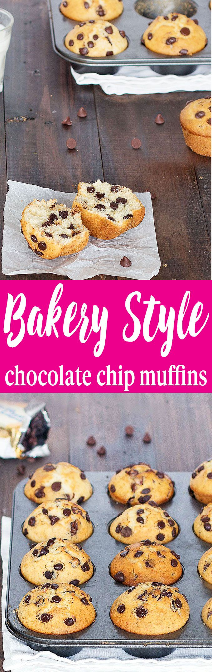 Bakery Style Chocolate Chip Muffins   Recipe   Best ...
