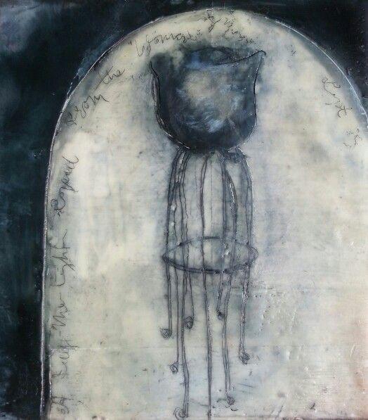 Judy Constable. Memory Vessel I.  Encaustic.