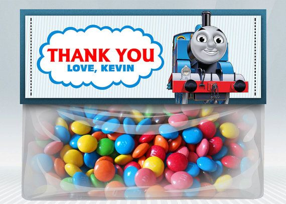 Thomas The Train Favor Bag Toppers on Etsy, $4.00