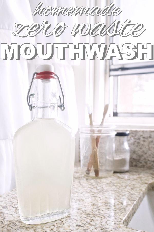 Homemade, Zero Waste Mouthwash