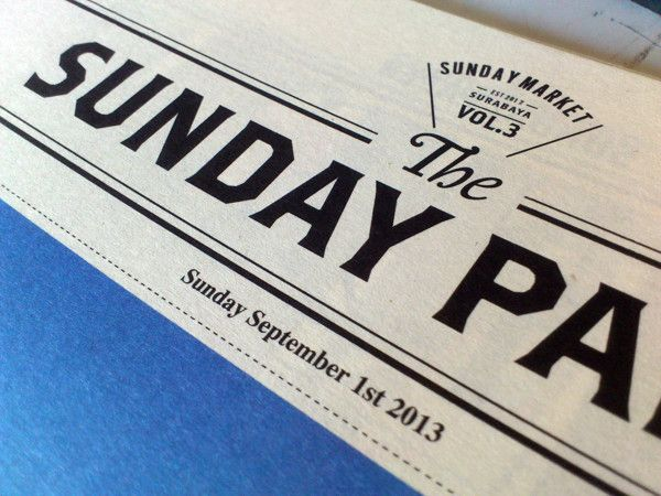 The Sunday Paper by butawarna , via Behance