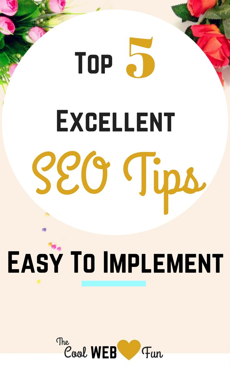 Easy SEO tips for any bloggers. Beginner SEO tips are most essential part as they are the foundation of the beloved SEO journey. Click on for the top 5 SEO http://www.coolwebfun.com/seo-for-beginners/
