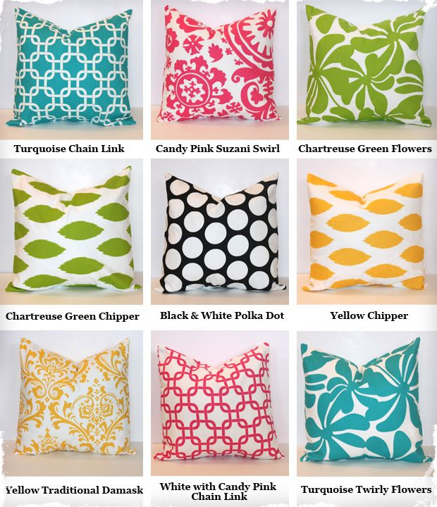 Decorative 18x18 Pillow Covers - 9 Gorgeous Fabric Designs to Choose From!