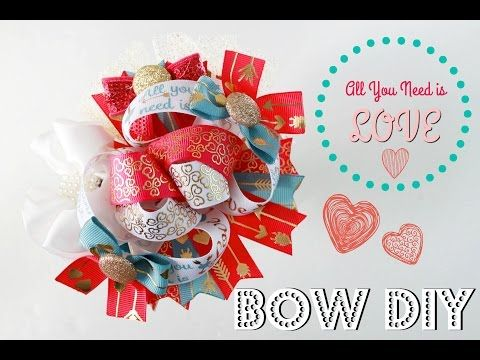 Let's make a hairbow! Boutique Stacked hairbow tutorial (All you need is LOVE) - YouTube