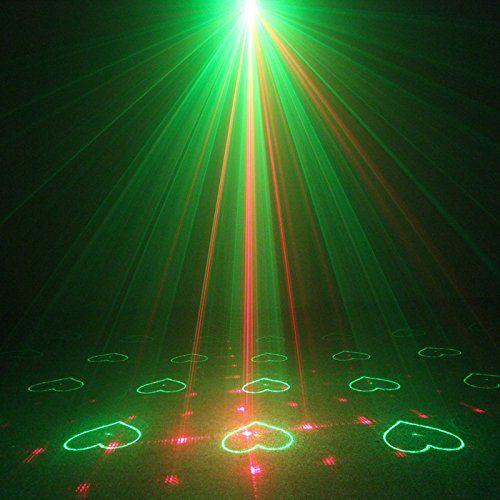 Innoda SUNY 40 Gobos Mini Dj lights, RG Laser Projector Light and ...