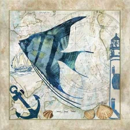 CUADROSTOCK.COM - Cuadro Nautical Fish II / Jill Meyer