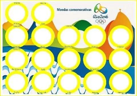 cartela para moedas olimpíadas 2016 (imagem p/você imprimir)